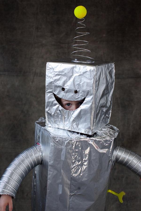 disfraz casero de robot