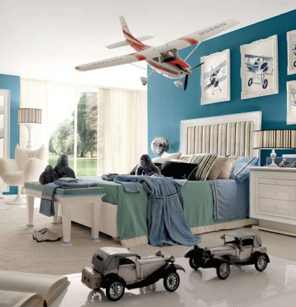6 habitaciones infantiles inspiradas en los aviones for Funky boys bedroom ideas