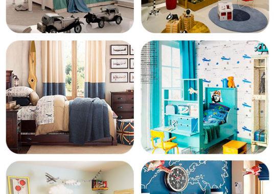 habitaciones infantiles inspiradas a los aviones