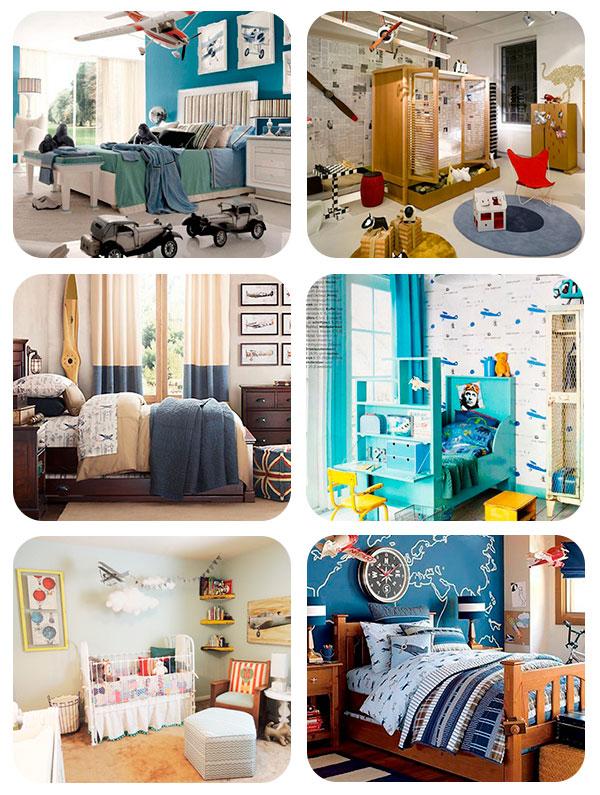 6 habitaciones infantiles inspiradas en los aviones for Imagenes de cuartos infantiles decorados