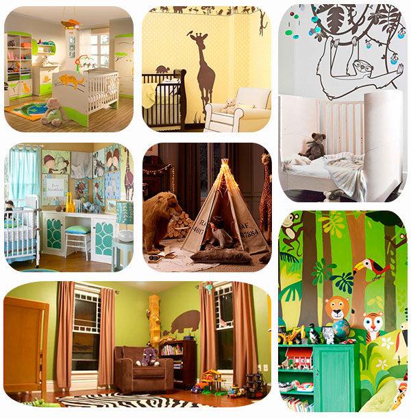 habitaciones infantiles inspiradas a la jungla