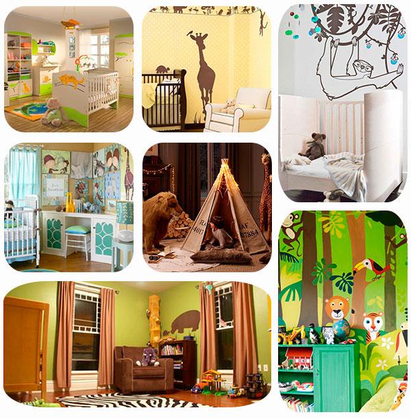 7 habitaciones infantiles con decoraci n de jungla pequeocio - Cortinas para bebes decoracion ...