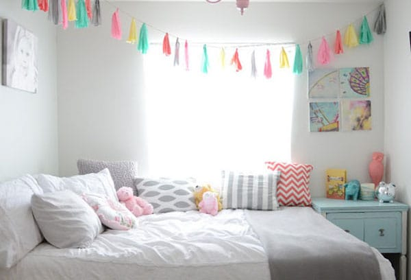 7 habitaciones infantiles decoradas con guirnaldas for Cuartos decorados kawaii