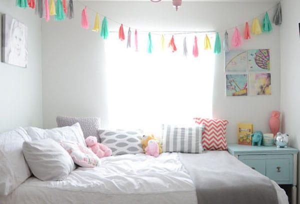 7 habitaciones infantiles decoradas con guirnaldas pequeocio for Decoracion dormitorios infantiles