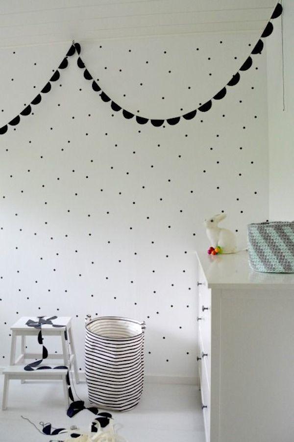 habitaciones infantiles decoradas con lunares 2