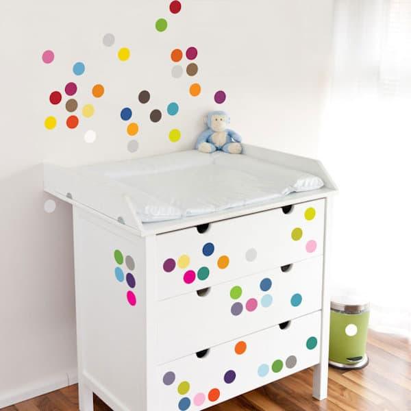 8 habitaciones infantiles decoradas con lunares - Habitaciones infantiles decoracion paredes ...
