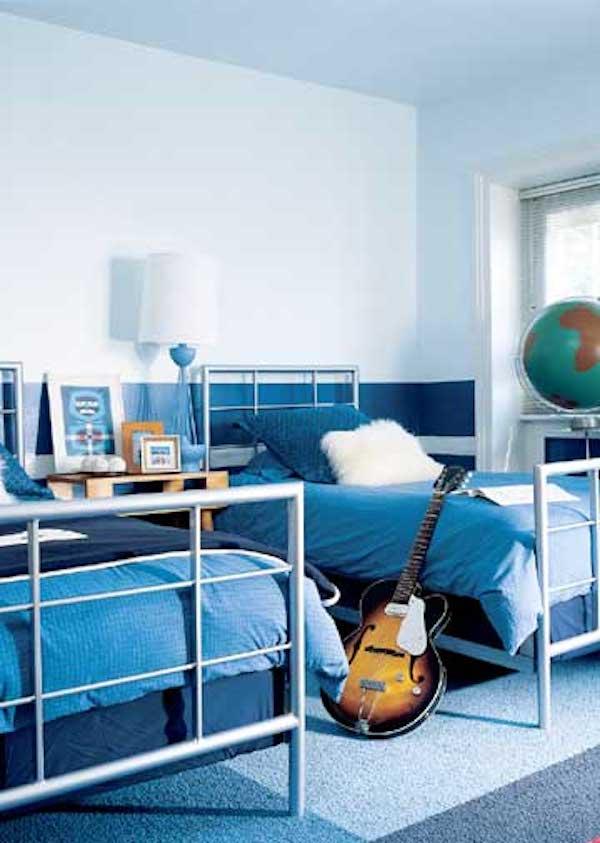 8 habitaciones infantiles en azul pequeocio for Cuartos pintados de azul