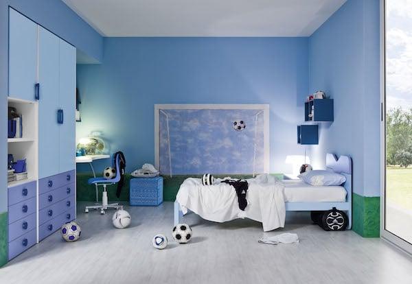 8 habitaciones infantiles en azul pequeocio - Colores azules para habitaciones ...