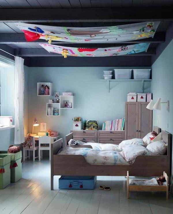 8 habitaciones infantiles en azul pequeocio for Cuartos infantiles ikea