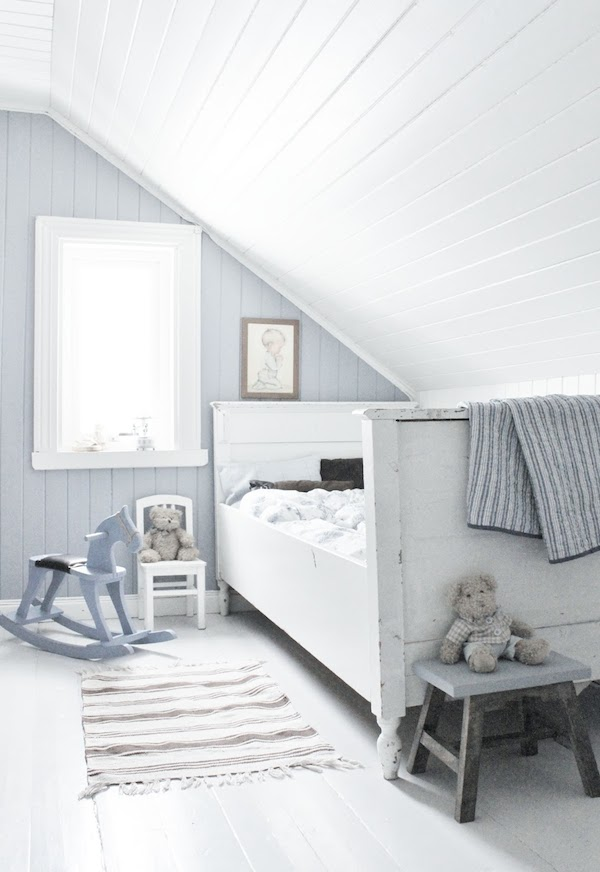 dormitorios infantiles decorados en celeste