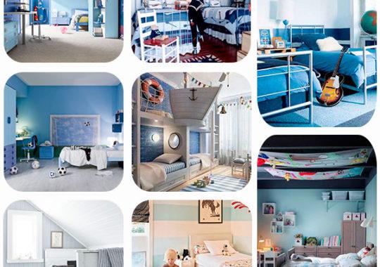 habitaciones infantiles en azul