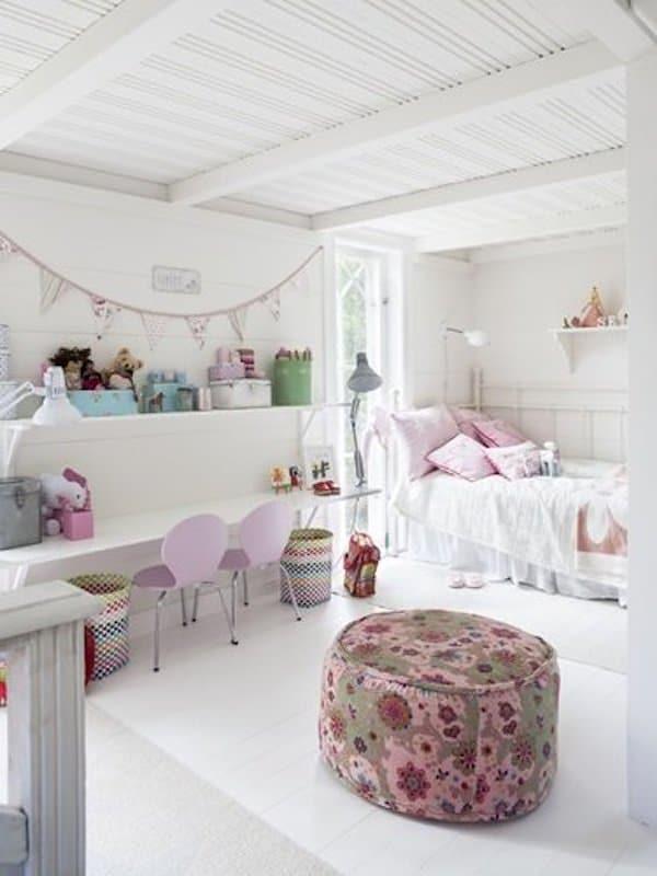 10 habitaciones infantiles en rosa pequeocio for Cuartos de nina vintage
