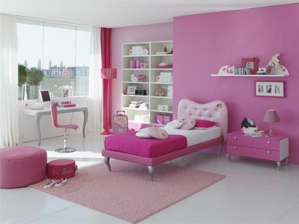 dormitorios rosa para niñas