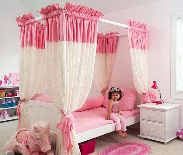 habitaciones rosa para niñas