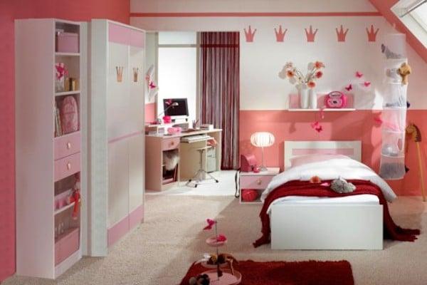 habitaciones de color rosa