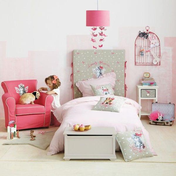 habitacion de niña en rosa