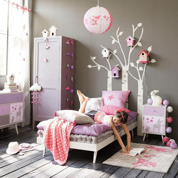10 habitaciones infantiles en rosa pequeocio. Black Bedroom Furniture Sets. Home Design Ideas