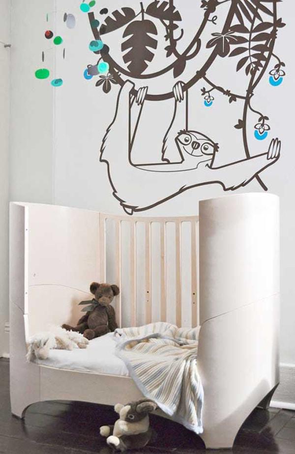 7 habitaciones infantiles con decoraci n de jungla pequeocio - Dibujos para paredes de bebes ...