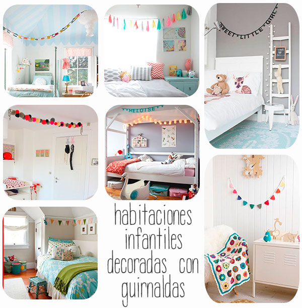 7 habitaciones infantiles decoradas con guirnaldas - Habitaciones infantiles decoracion ...
