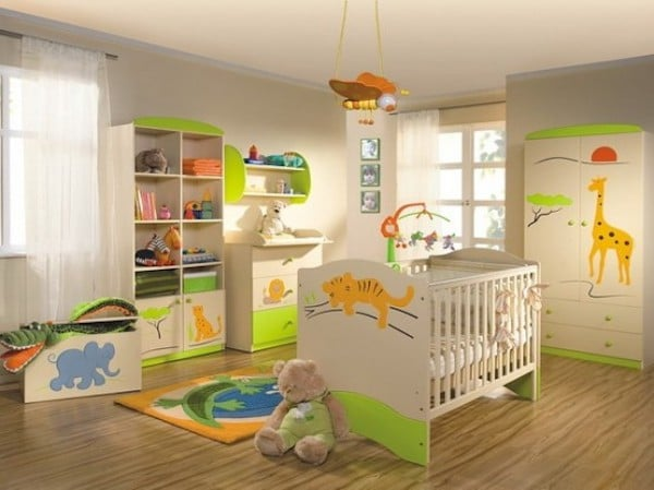 7 habitaciones infantiles con decoraci n de jungla pequeocio. Black Bedroom Furniture Sets. Home Design Ideas