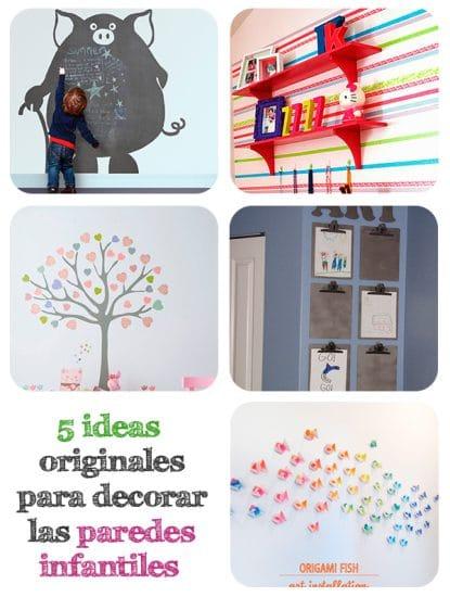 5 ideas originales para decorar paredes infantiles - Paredes infantiles originales ...