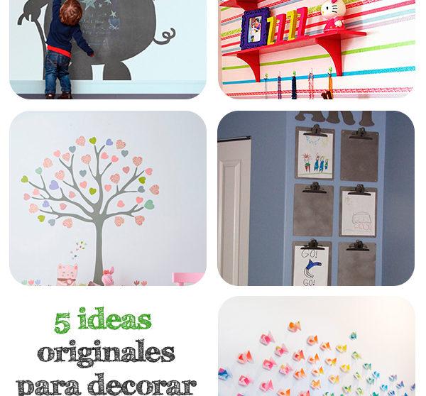 5 Ideas Originales Para Decorar Paredes Infantiles Pequeociocom