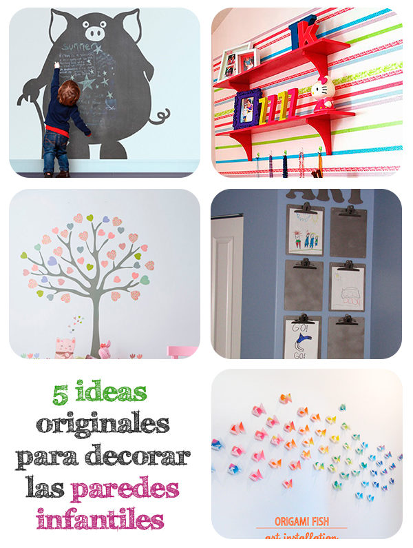 5 ideas originales para decorar paredes infantiles pequeocio - Decorar paredes facil ...