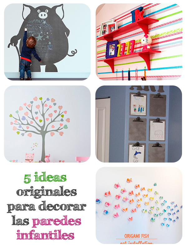5 ideas originales para decorar paredes infantiles pequeocio for Decoracion en la pared para ninas