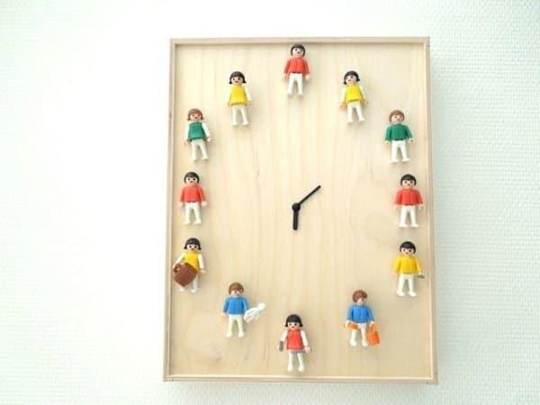 reloj con playmobil