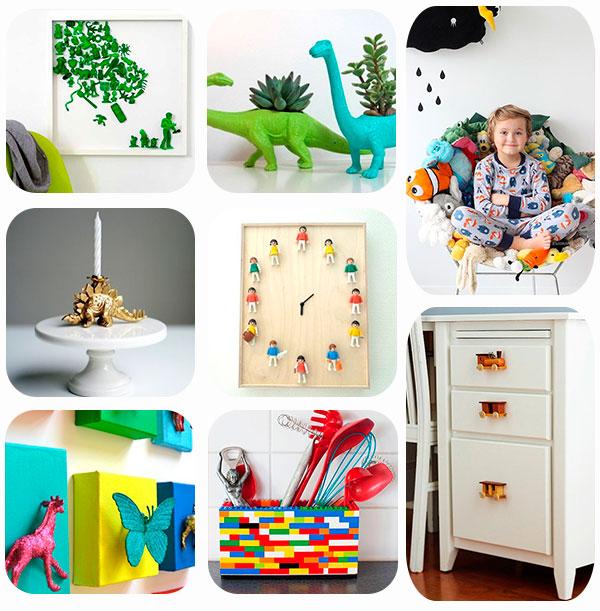 8 ideas para reciclar juguetes viejos pequeocio for Ideas para decorar la casa reciclando