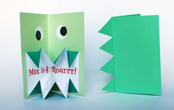 invitacion de cumpleaños para fiesta de dinosaurios