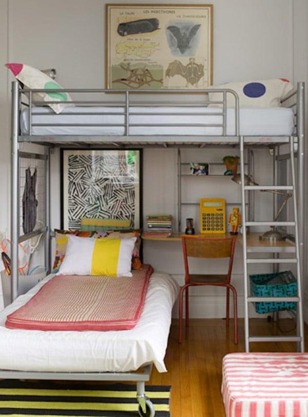 10 habitaciones infantiles con literas pequeocio - Ideas para decorar un loft ...
