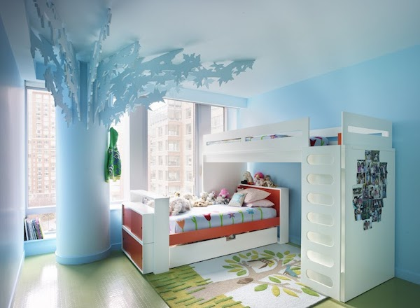10 habitaciones infantiles con literas pequeocio for Cuartos para ninas frozen