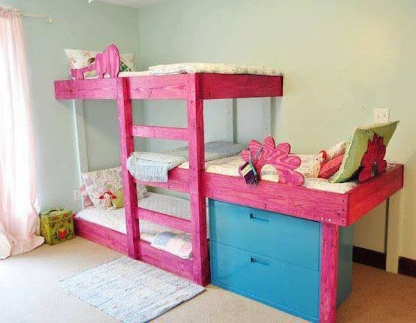 10 habitaciones infantiles con literas pequeocio. Black Bedroom Furniture Sets. Home Design Ideas