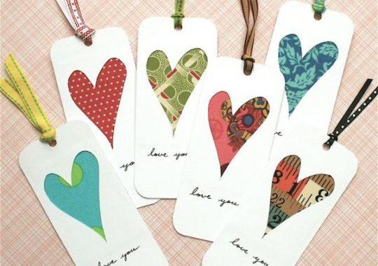 marcapaginas casero para san valentín