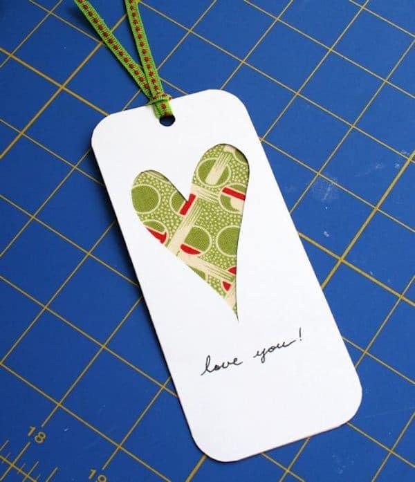 un marcapáginas para regalar en San Valentín