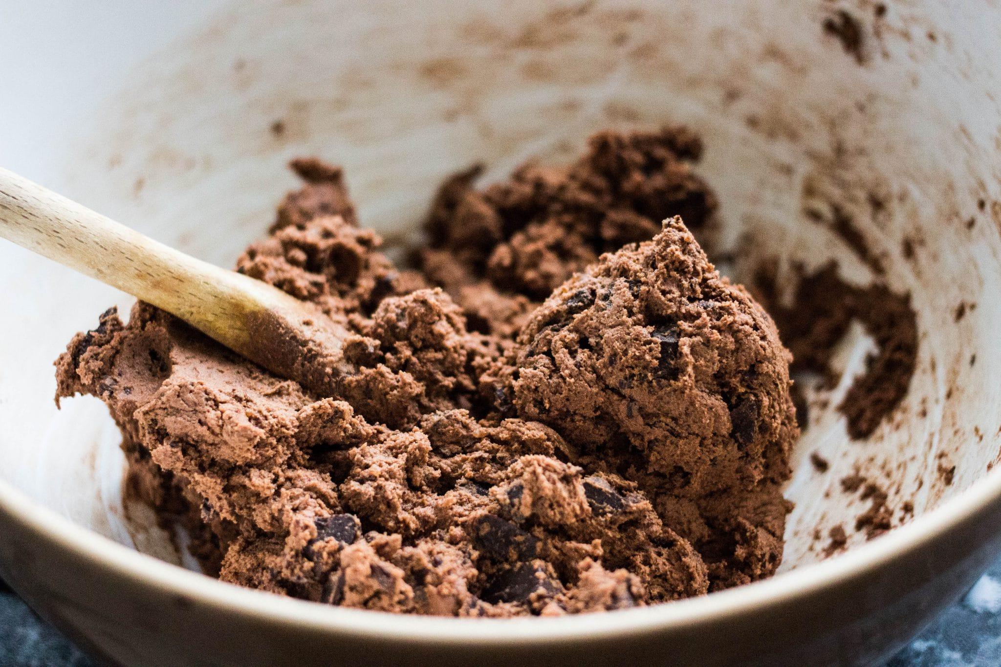 masa cookies de chocolate