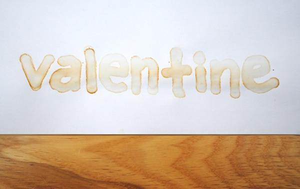 mensaje par san valentin con tinta invisible