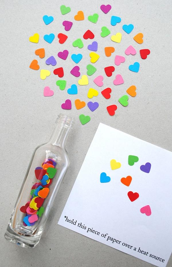 mensaje en una botella para san valentin