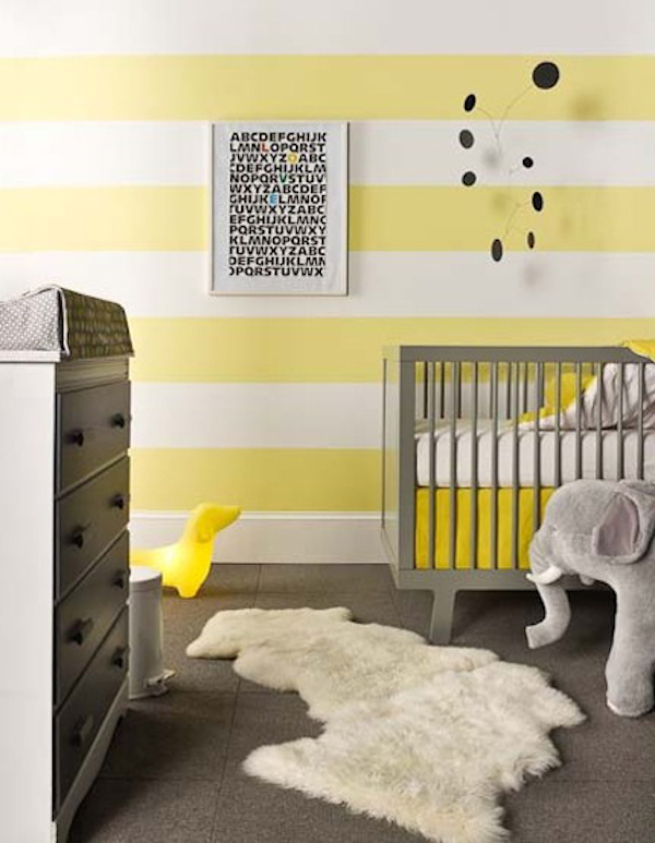 5 habitaciones de beb decoradas a rayas pequeocio - Habitacion bebe moderna ...