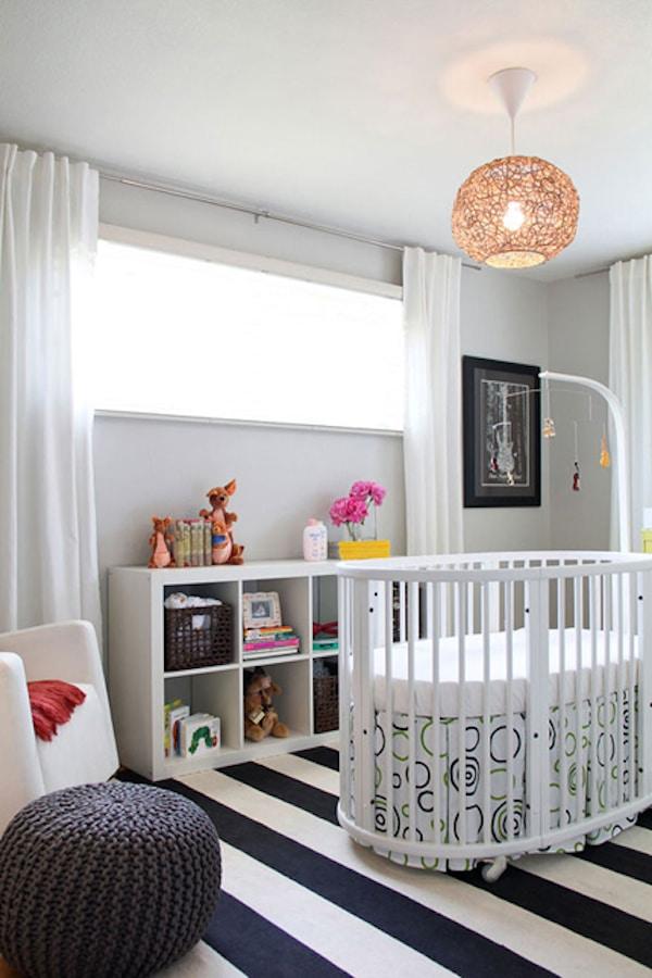 decoracion de habitaciones de bebes con rayas