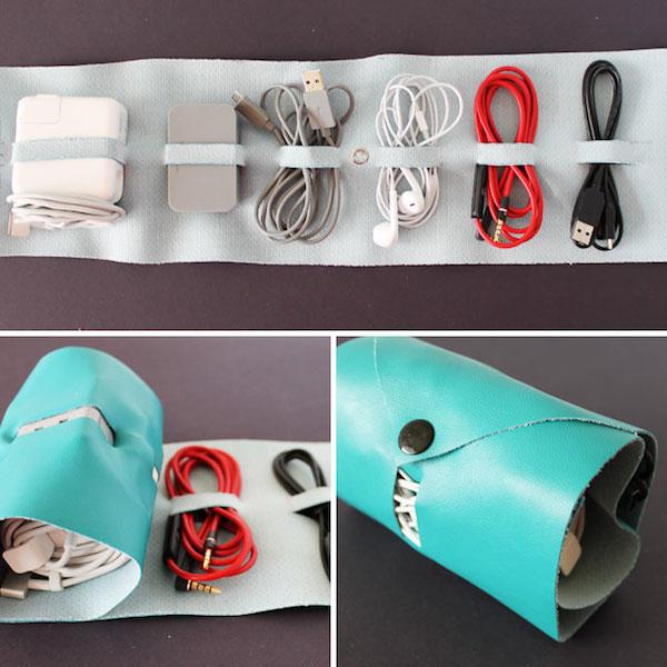 un regalo para pap organizador de cables casero pequeocio