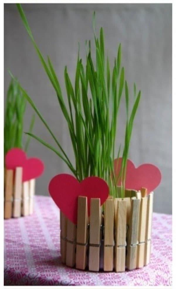 Manualidad con pinzas para san valent n - Manualidades recicladas para decorar ...