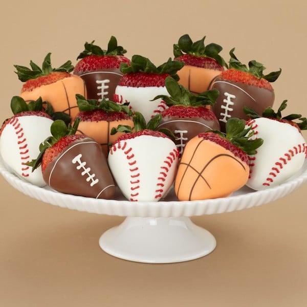 Recetas divertidas para papás deportivos: Fresas–balón