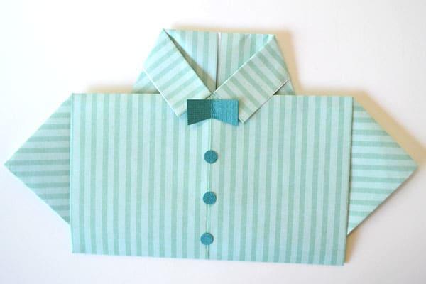tarjeta origami para el dia del padre