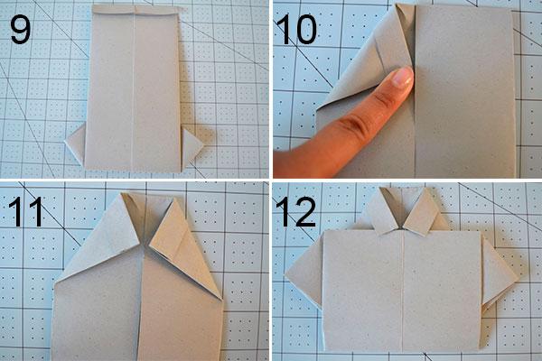 camisa origami para el dia del padre