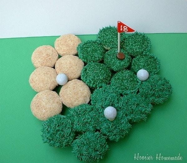 cupcakes para golfistas