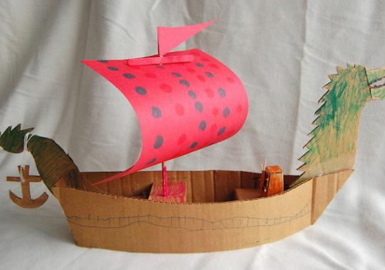 Manualidades con cartón: un barco pirata