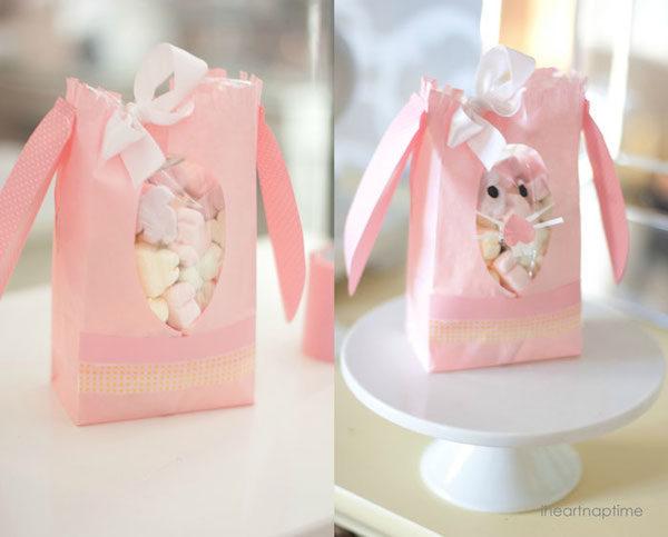 bolsitas de Pascua en forma de conejo
