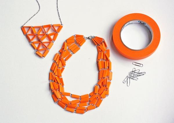 collar casero de clips